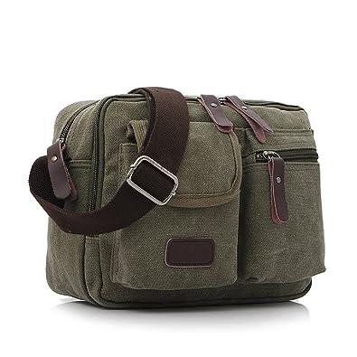 513b1e7d0c MeCooler Men Shoulder Bag Vintage Messenger Crossbody Bag for Girls Casual  Small Cross Body Pack Retro Satchel Women Side Bag  Amazon.co.uk  Shoes    Bags