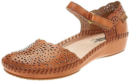 70dd081d5 Pikolinos Women's's P. Vallarta 655 Ankle Strap Sandals Orange (Apricot) ...