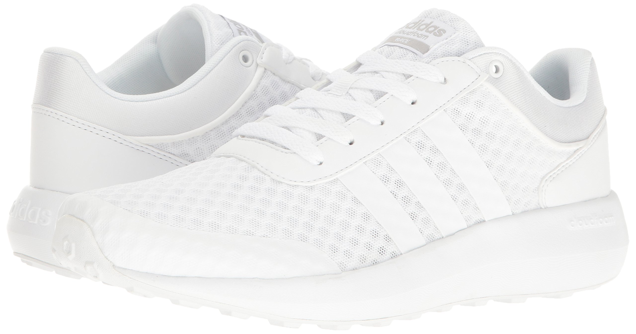 adidas Men's Cloudfoam Race Running Shoe, White/Clear Onix, 9 D-Medium by adidas (Image #6)