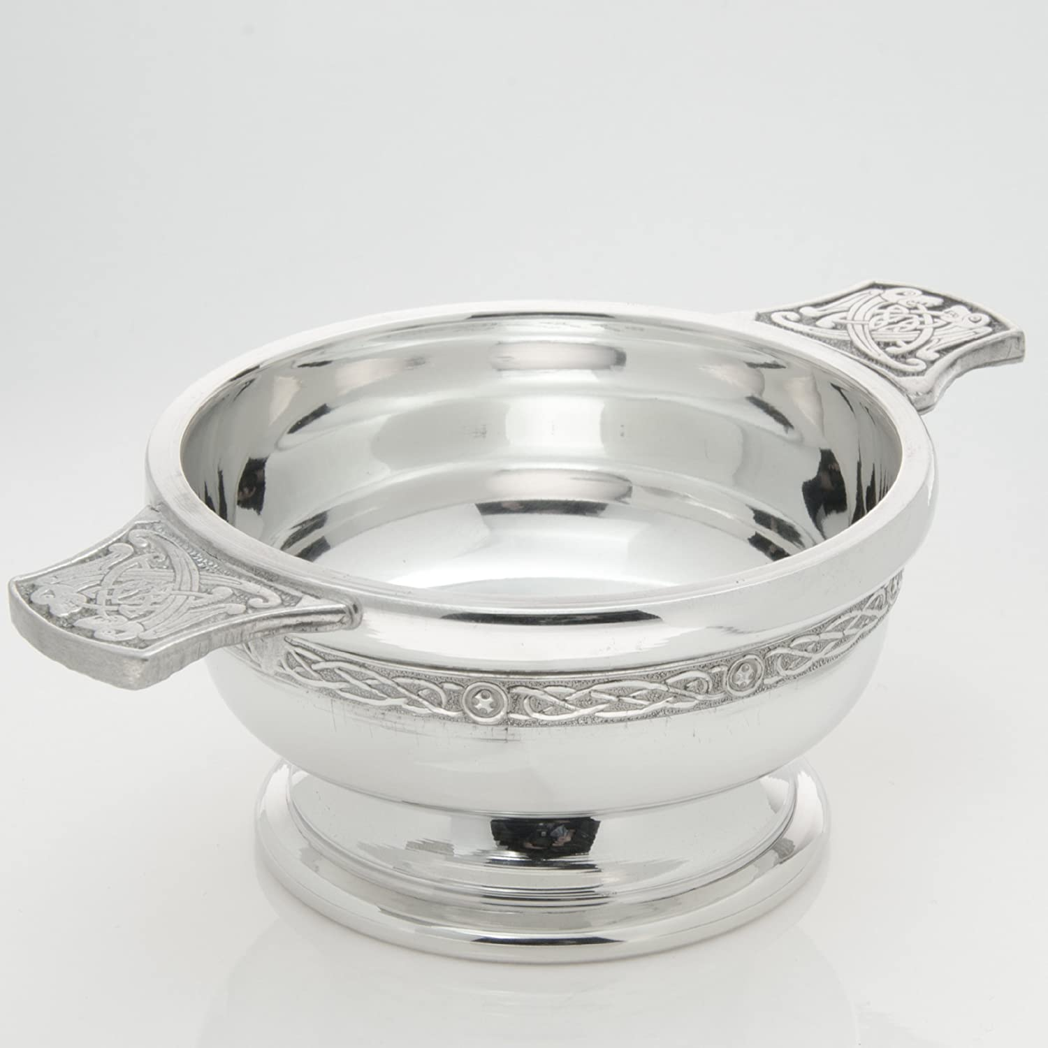 Personalised 4 Inch Chrome Plated Quaich