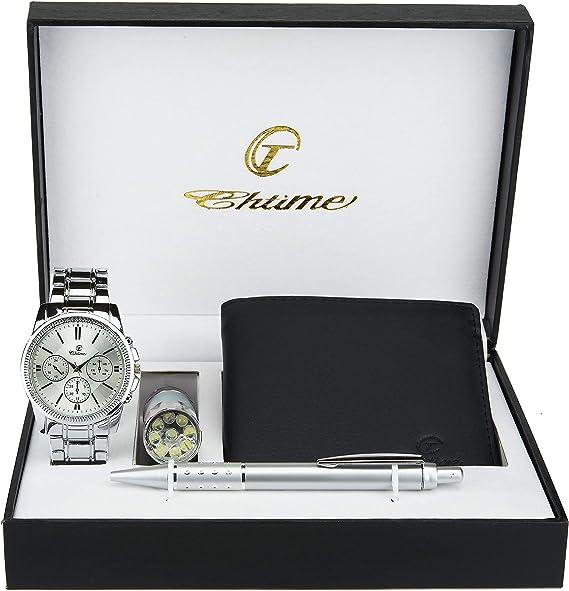 Caja de Regalo Reloj Hombre - Lámpara LED - Billetera -Bolígrafo ...