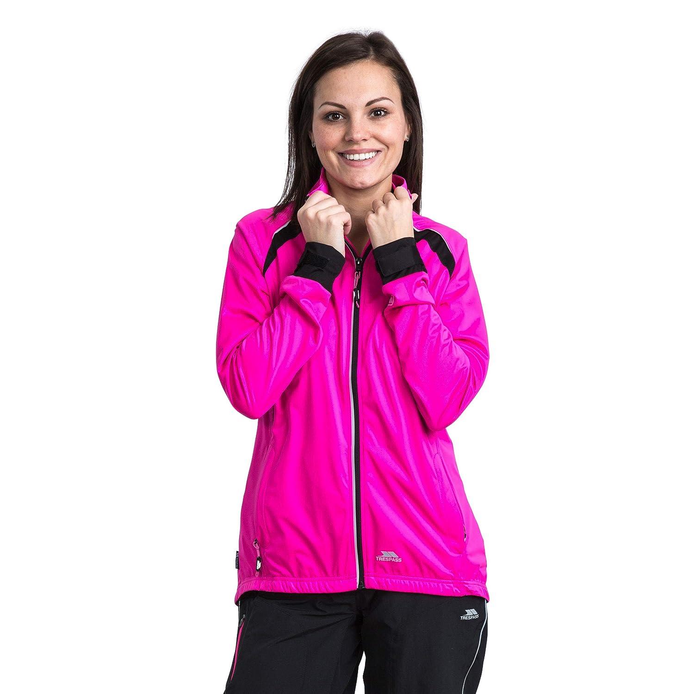 Trespass Covered Wasserdichte Kompakt Zusammenfaltbare Jacke mit einrollbarer Kapuze f/ür Damen
