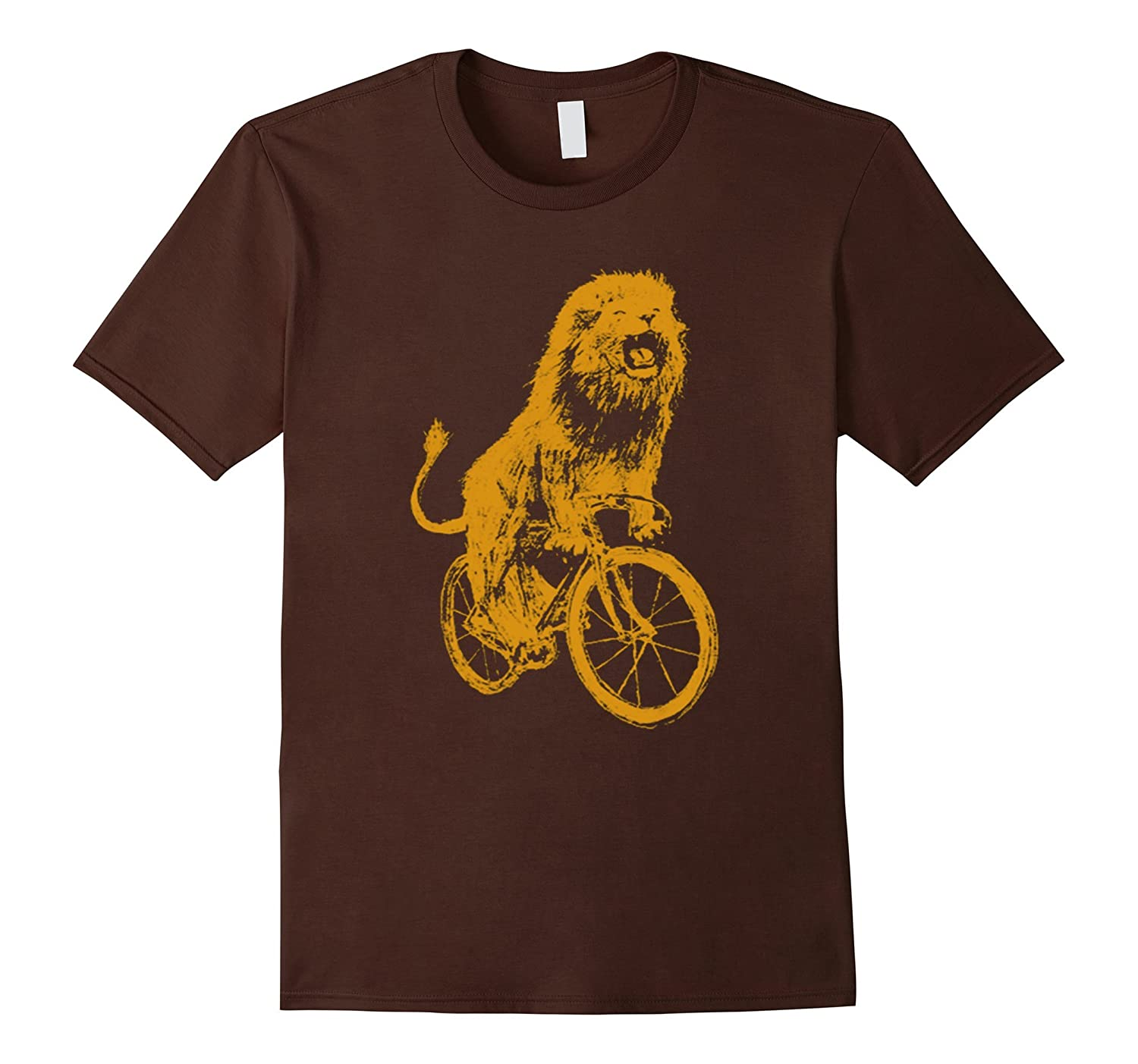 LION ON A BICYCLE SHIRT
