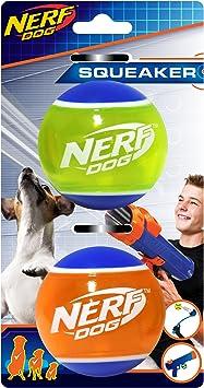 Amazon.com: Nerf perro 2.5 inch TPR Squeak pelota de tenis 2 ...