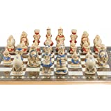 SAC Alice in Wonderland Chess Set, Hand-Painted (without board)