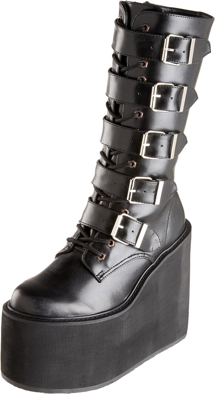 black buckle platform boots