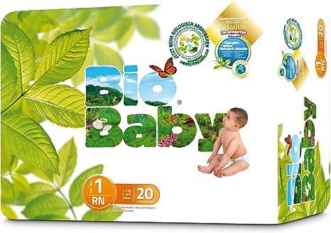 Moltex Bio Baby - Pañales Biodegradables, Tamaño 1, 40 unidades ...