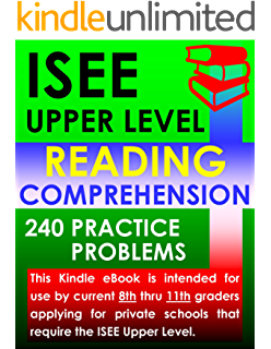 Amazon isee upper level mathematics 360 practice problems isee upper level reading comprehension 240 practice problems fandeluxe Image collections