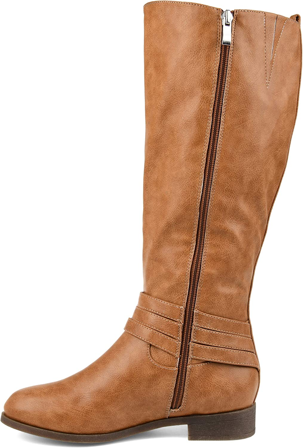 Journee Collection Comfort Womens Ivie Regular Wide Calf Extra Wide Calf Boot