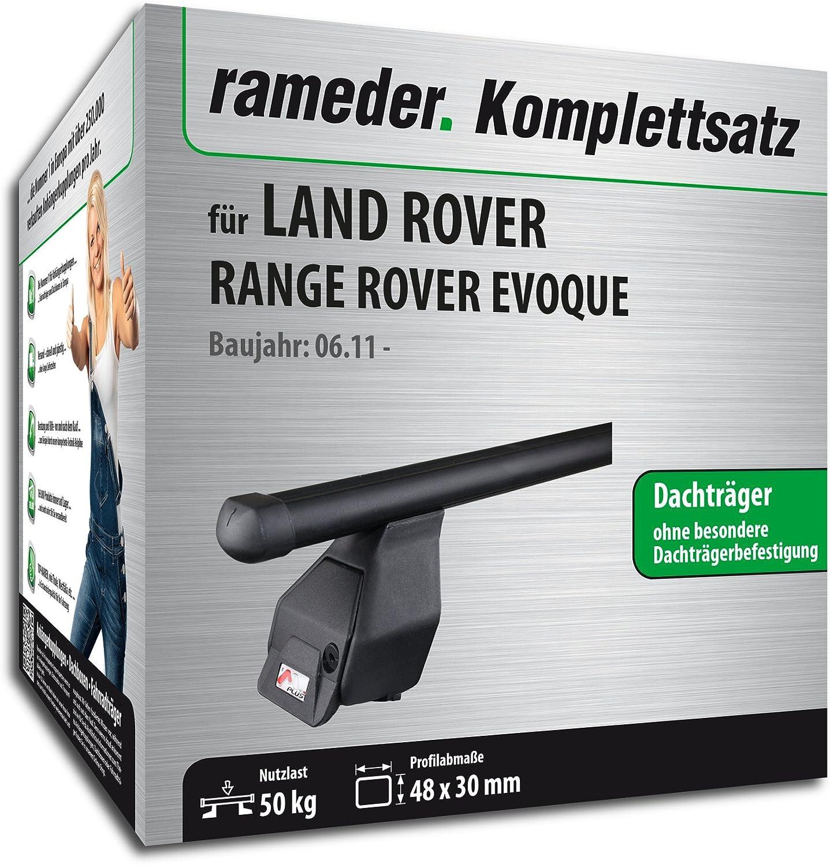 118796-09576-8 Dachtr/äger Tema f/ür Land Rover Range Rover EVOQUE Rameder Komplettsatz