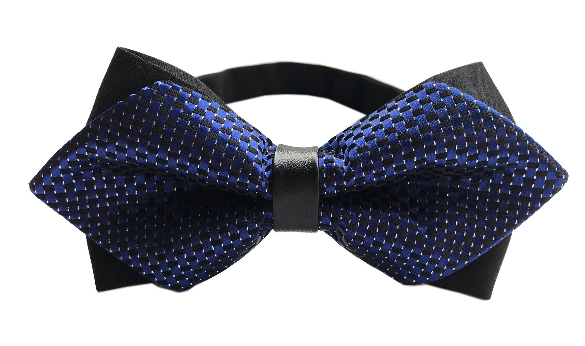 Big Boys Children Bow Tie Blue Pre Tied Bowties Casual Evenings Neckwear for Men