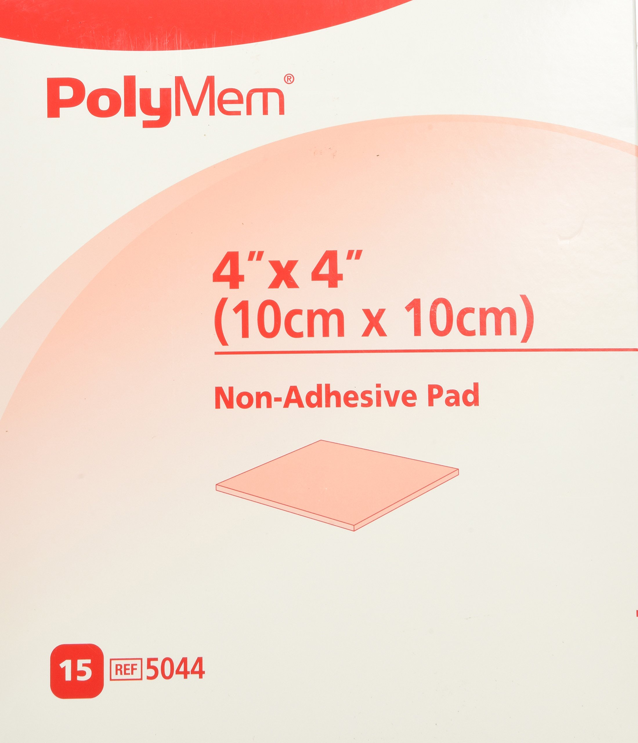 PolyMem Non-Adhesive Wound Dressing, Sterile, Foam, 4' X 4' Pad, 5044 (Box of 15) by Shapes by PolyMem