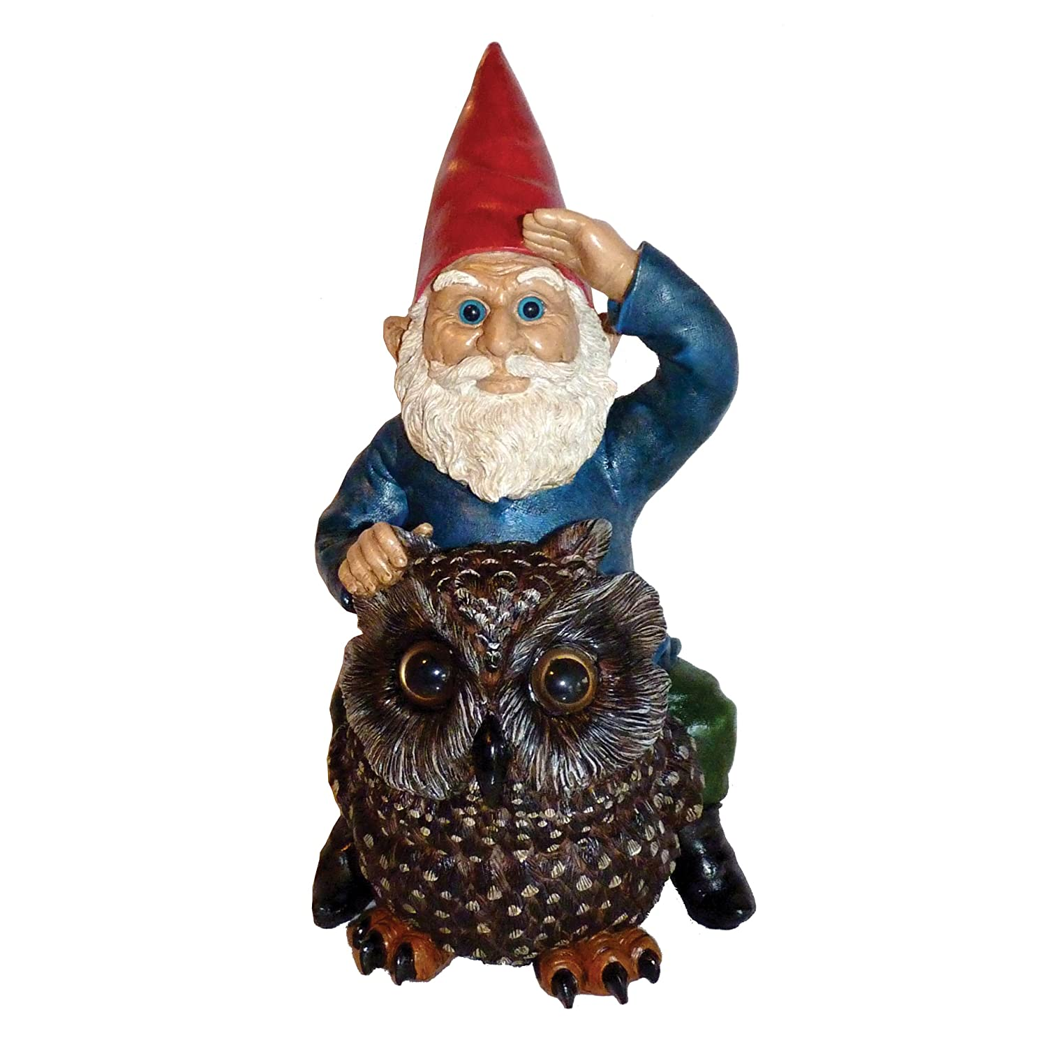 Owl lawn ornaments - Amazon Com Michael Carr Designs 80047 Gnome On Owl Outdoor Decor Outdoor Statues Patio Lawn Garden