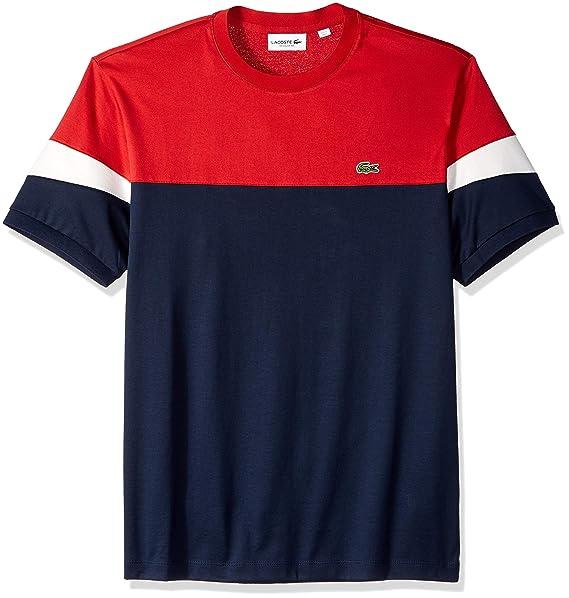 Short Tee Fit Colorblock Men's Sleeve Reg Lacoste eH9b2WEDIY
