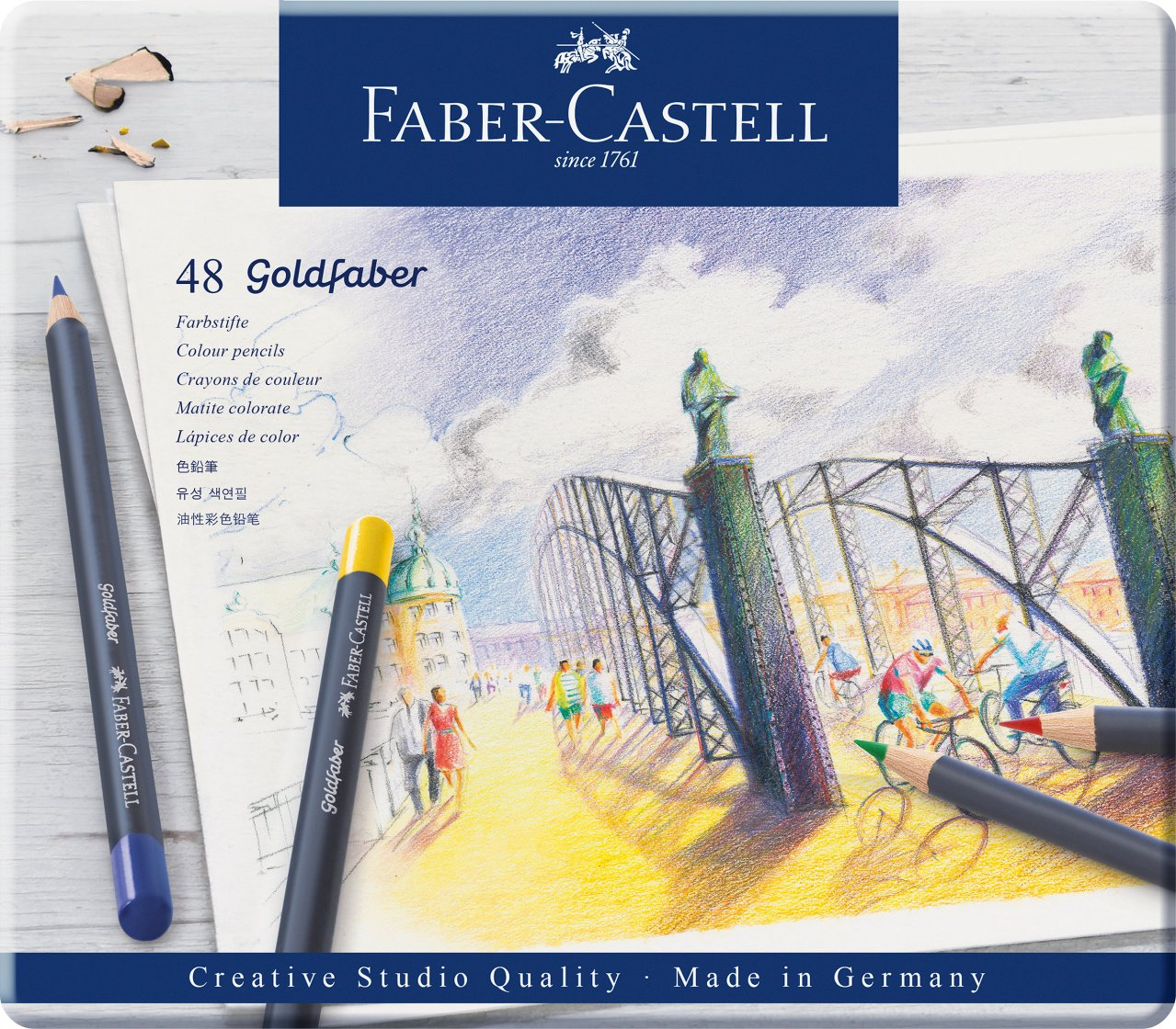 Faber-Castell Creative Studio Goldfaber Color Pencils - Tin of 48 by Faber-Castell