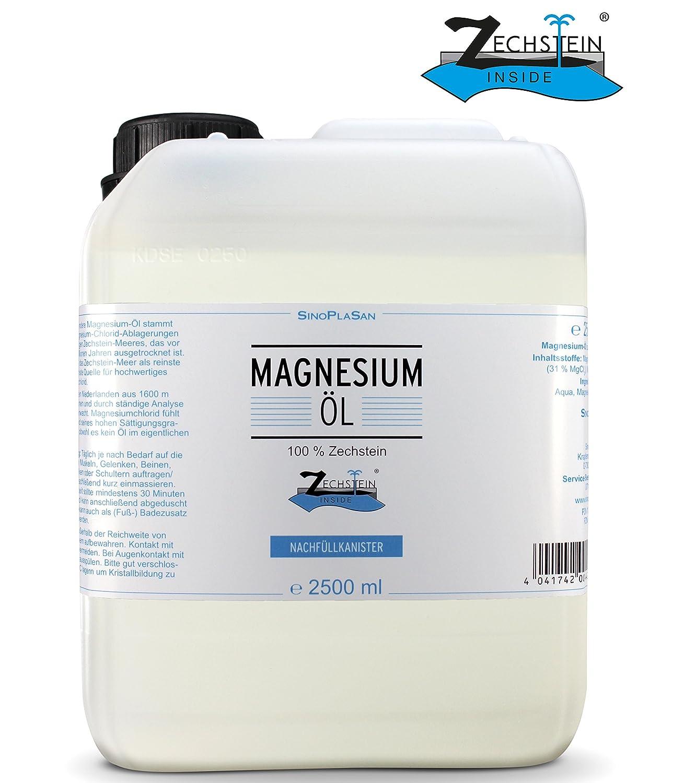 Magnesio de aceite 2500 ml Bidón, 100% ZECH piedra Inside: Amazon.es: Salud y cuidado personal