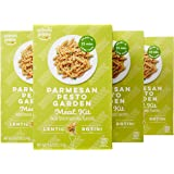 Wickedly Prime Lentil Pasta Meal, Parmesan Pesto Garden, Gluten Free, 9.67-ounces (Pack of 4)