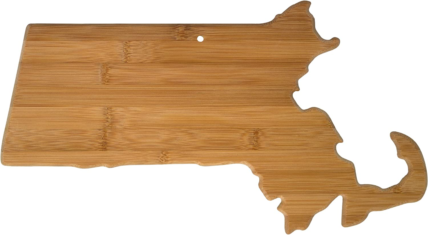 Totally Bamboo 20-8008MA Massachusetts State Shaped Bamboo Serving & Cutting Board