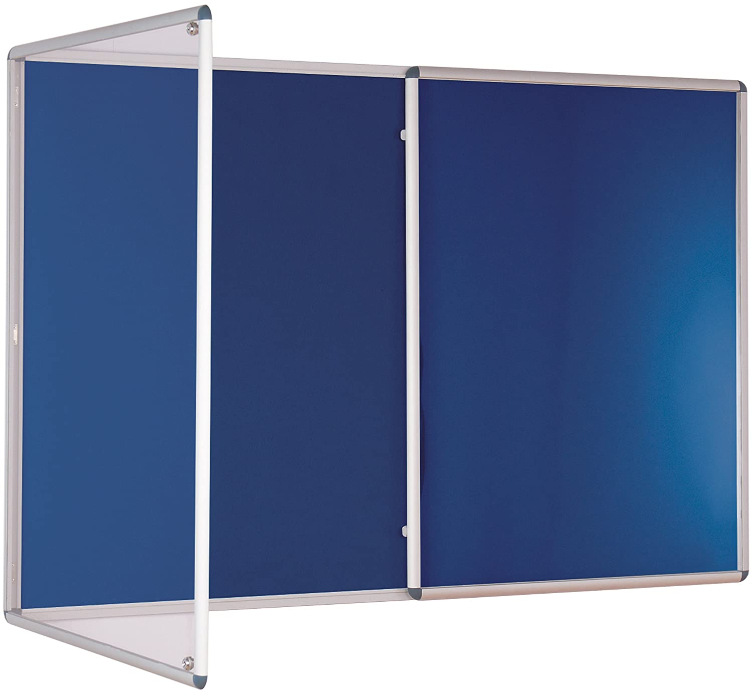 1200mm x 1800mm Metroplan Tamperproof noticeboard Blue
