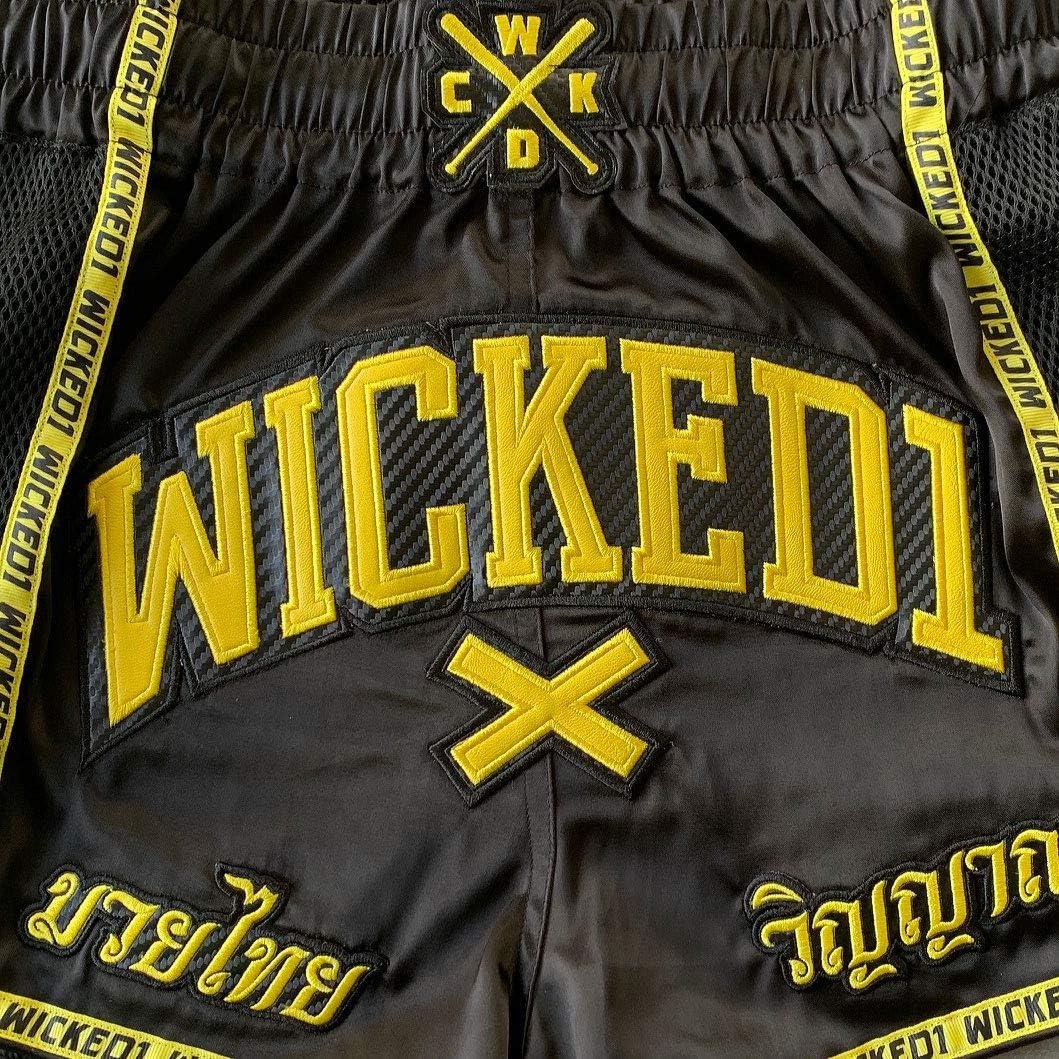 Wicked One Short de boxe tha/ï et kickboxing Noir//jaune