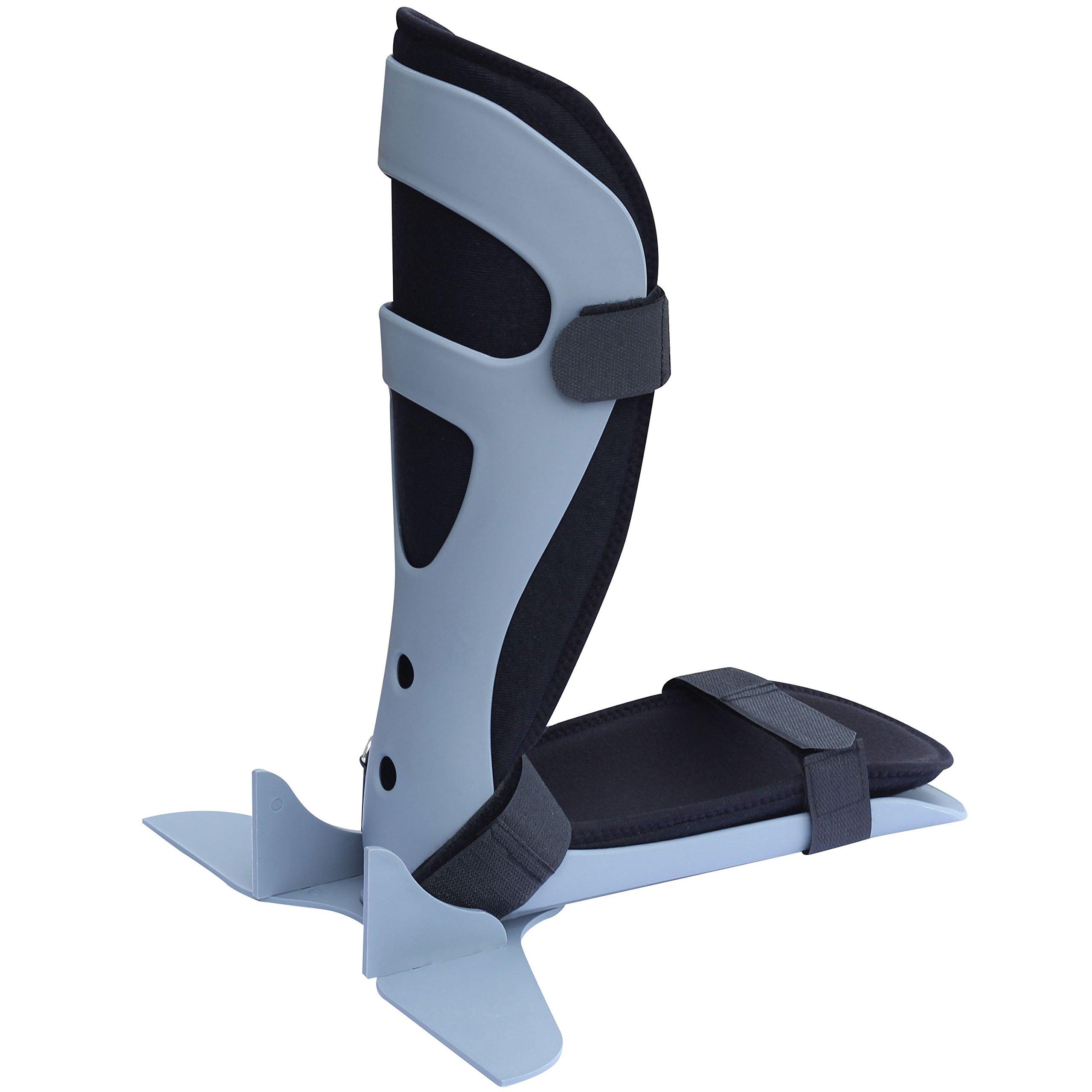 ORTONYX Ankle Anti Rotation AFO Footguard Support Brace - L Black/Gray