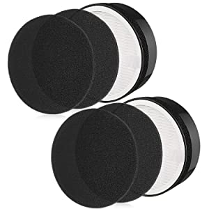 isinlive Replacement LV-H132 Filter, HEPA and Activated Carbon Filters Kits Compatible with Part Levoit lv-H132-RF Air Purifier Filter 2 Pack