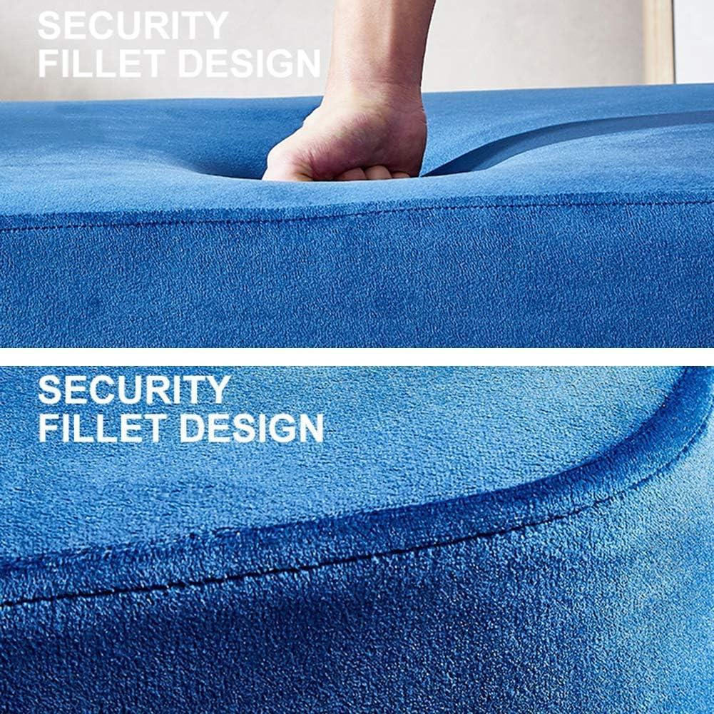 XZPENG Fußbank Haushalt Bank Leg Edelstahl Schuh Bench Solid Color European Style Beschichtungsverfahren Auf (Color : Black) Blue