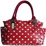 GFM ® Oilcloth Tote Shopper Day Bag Polka Dot / Shoes /OWL / Butterfly Skull Patterns