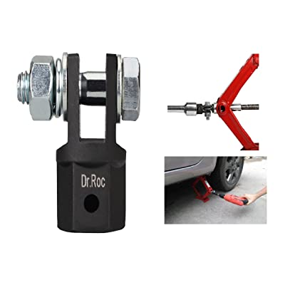 Dr.Roc Scissor Jack Adapter for 1/2 Inch Drive Impact Wrench or 13/16 Inch Lug Wrench or Power Drills, Scissor Jack Drill Adapter for Impact Drills Socket Automotive Jack RV Trailer Leveling Jack: Automotive