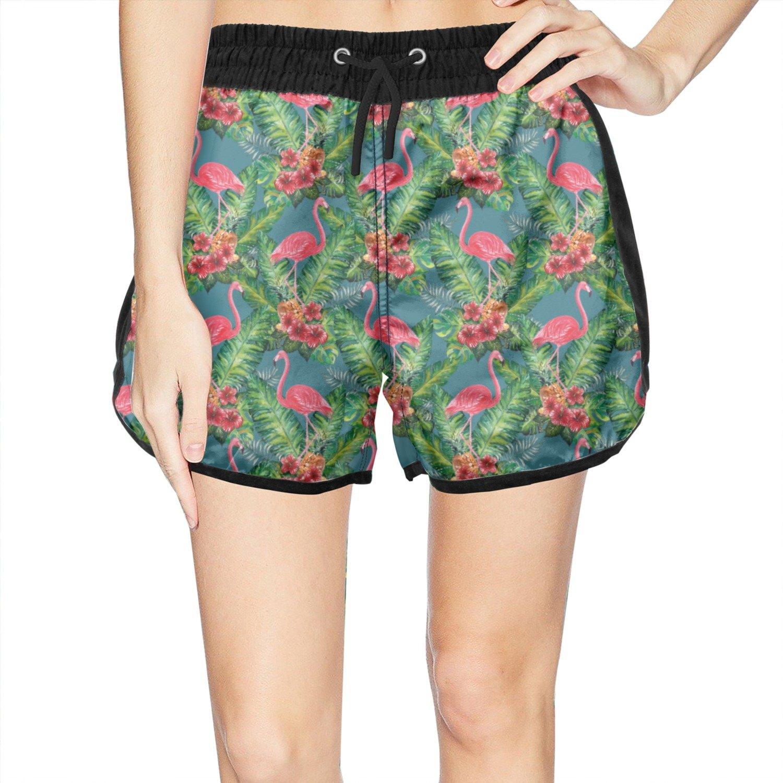 YAYAZAN for Womens Swim Trunks Pants Flamingo Pineapple Ties Cool Swim  Shorts at Amazon Women s Clothing store  b1dae583bb