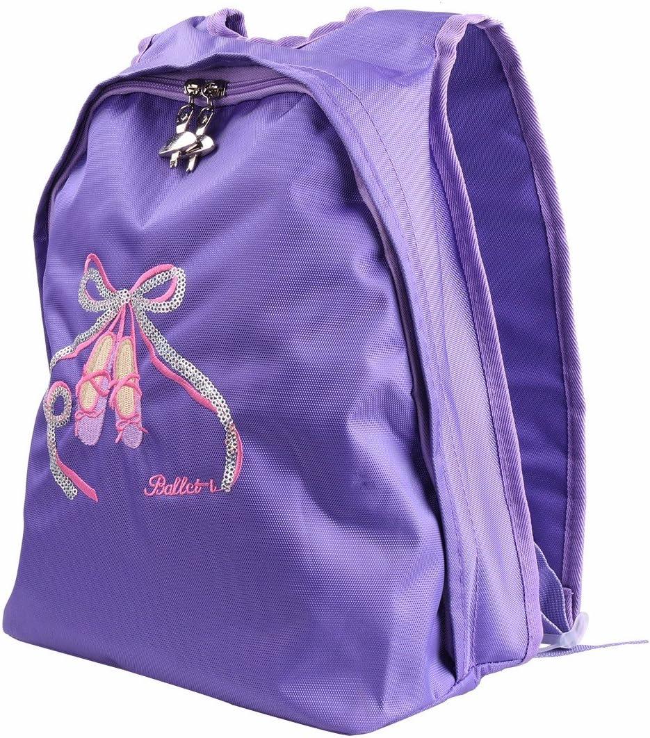 TiaoBug Enfant Fille Sac de Danse Ballet pour Robe de Danse Sac /à Dos//Main Multi-Fonction Sac Ballerine Patinage Gymnastique Sac /École Scolaire Cours Sac Sport Voyage