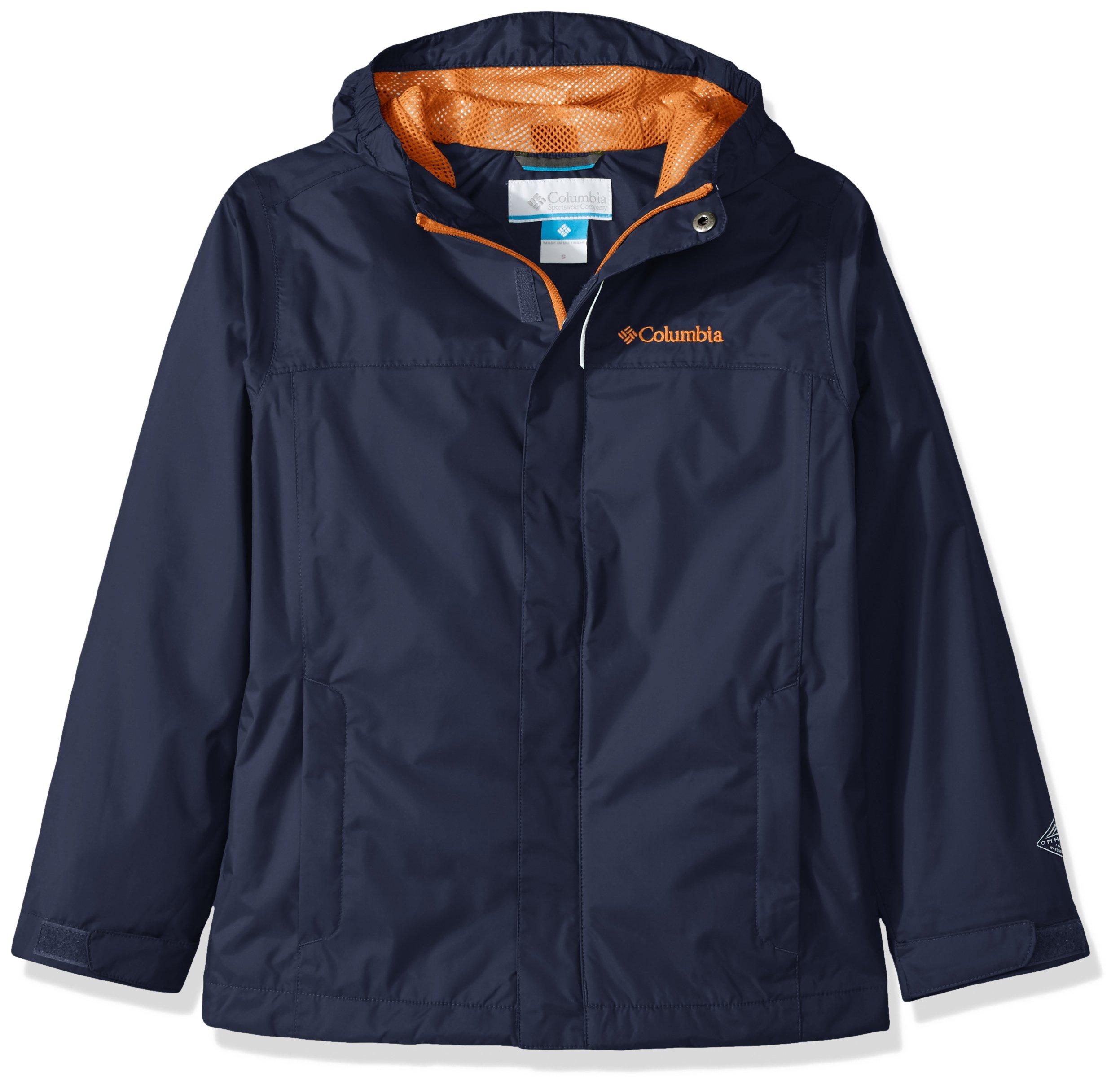 Columbia Big Boys' Watertight Jacket, Collegiate Navy, M