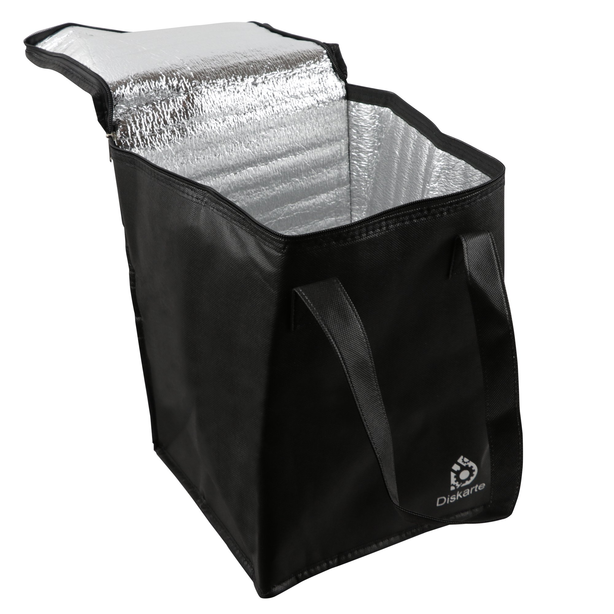 Commercial Quality Food Delivery Bag- 2 Piece Set Black Delivery Bag for Food- 13'' x 9'' x 9'' Dimensions- 80 GSM Nonwoven Polypropylene- Practical and Comfortable by Diskarte (Image #7)