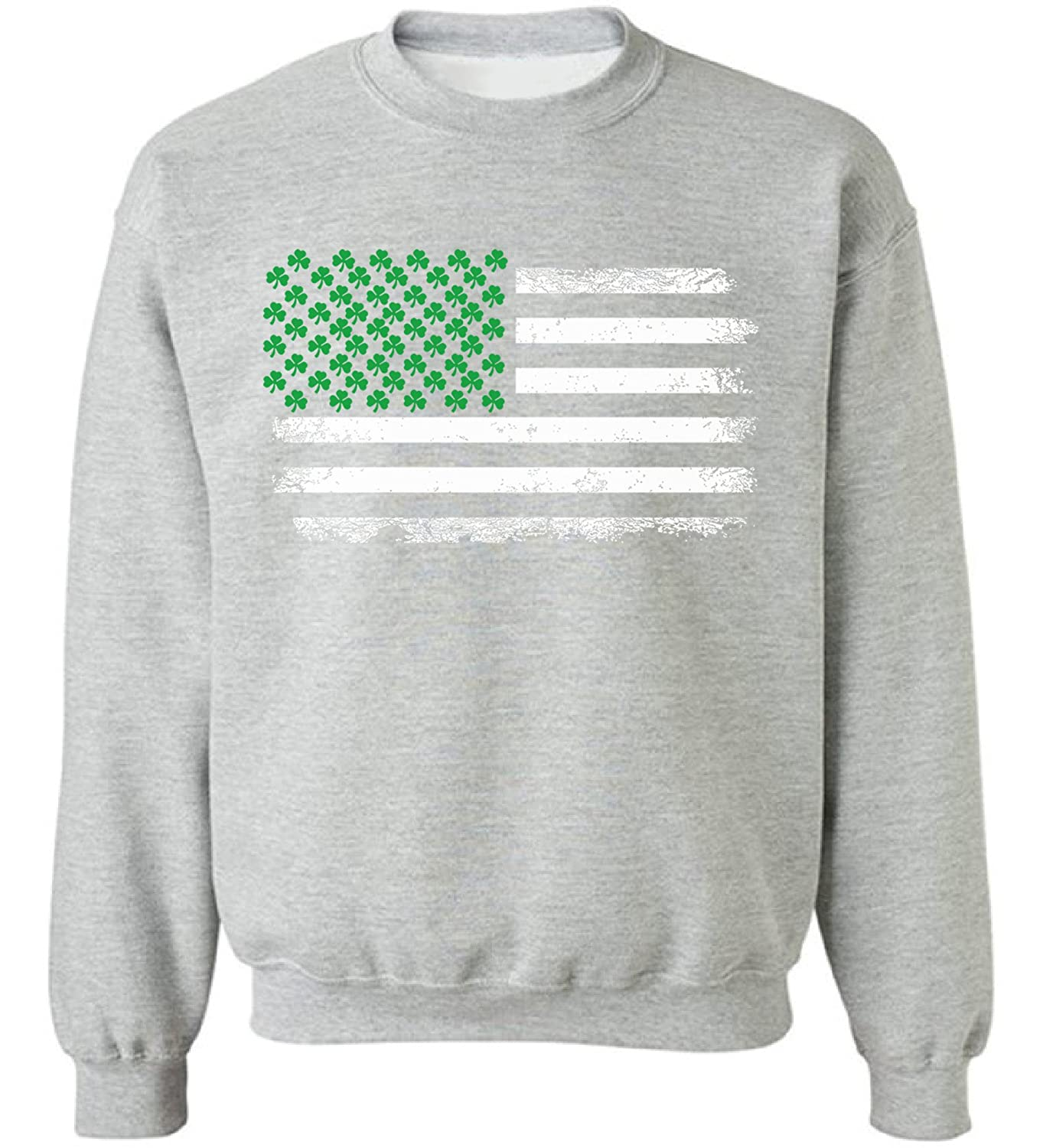 Pekatees Shamrock Flag Sweatshirt Irish American Pride Sweater For Men and Women