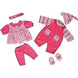 Bayer Design - Ropa para muñecas de 42-46 cm, conjunto verano, vestido y peleles, color rosa (84619AA)