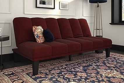 Exceptionnel DHP Hamilton Estate Premium Futon Sofa Sleeper, Comfortable Plush  Microfiber Upholstery, Rich Burgundy