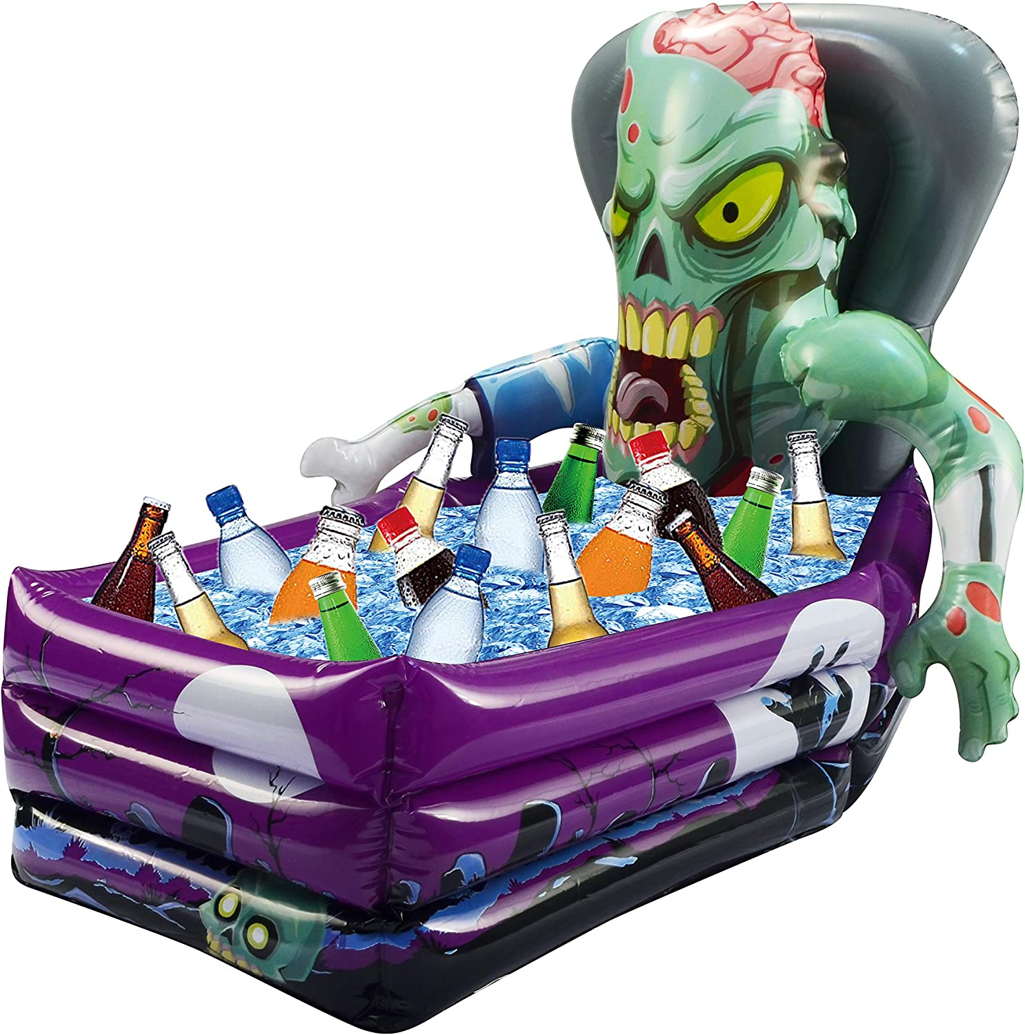 """JOYIN Halloween Party Inflatable Zombie Drink Cooler and Decoration (26""""x 24""""x 38"""" Approximate Inflated Size)"""