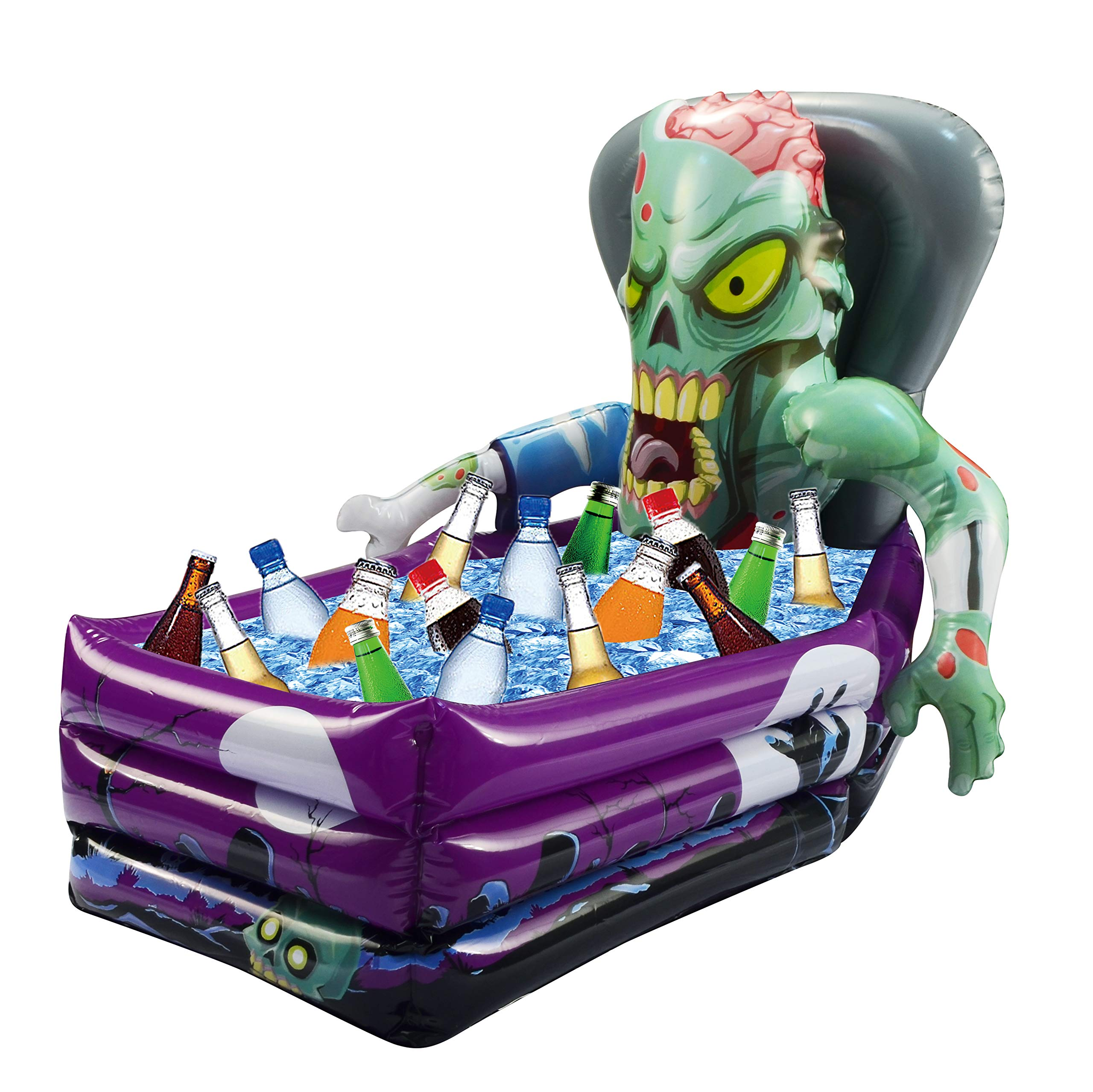 Halloween Party Inflatable Zombie Drink Cooler and Decoration (26''x 24''x 38'' Approximate Inflated Size) by JOYIN