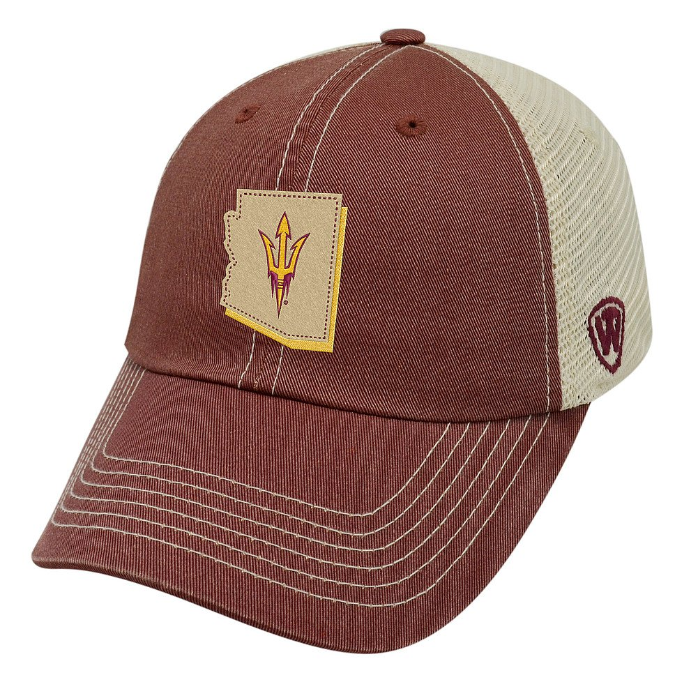 Top of the World Arizona State Sun Devils Men's Mesh-Back Hat Icon, Maroon, Adjustable
