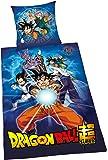 Herding Parure de lit Dragon Ball Super, coton, bleu, 200x 135cm