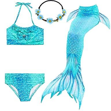 2XDEALS Cola De Sirena Niña para Nadar 4pcs con Bikini Traje De ...