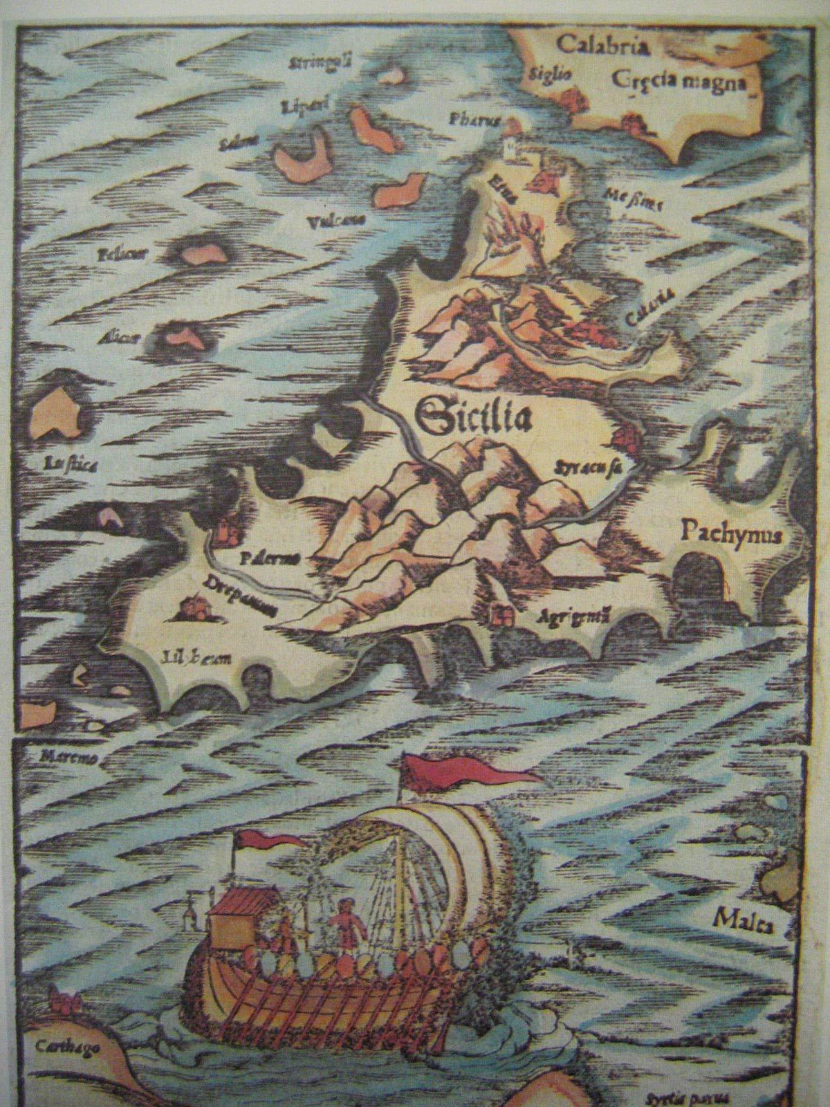 Cartina Sicilia Antica.Mappa Sicilia Antica Reprint 1540 Tolomeo Claudio Tolomeo Libri Amazon It
