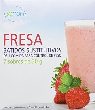 Sanon Batidos, Sustitutivo Alimentacio con Sabor de Fresa, 7 Sobres, 30 g: Amazon.es: Salud y cuidado personal