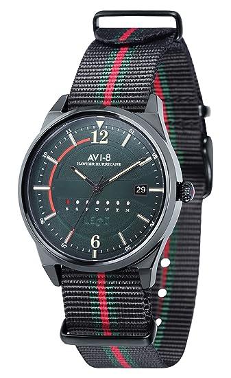 AVI-8 Hawker Hurricane Reloj de Hombre Cuarzo 38mm Correa de Nylon AV-4044-03: Amazon.es: Relojes
