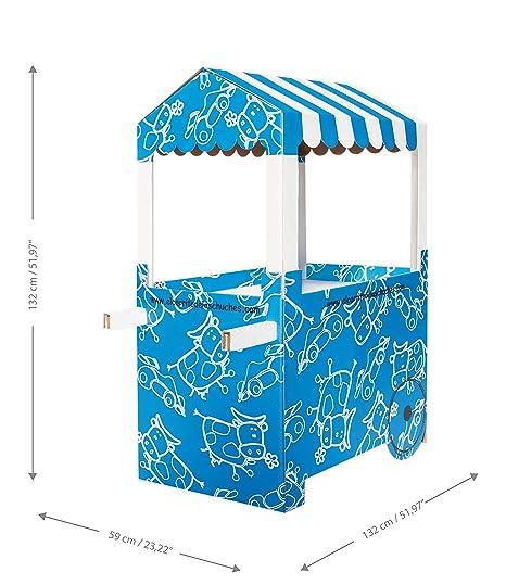 Carro de Chucherías de Cartón, Medidas 132 cm (alto) x 100 cm (