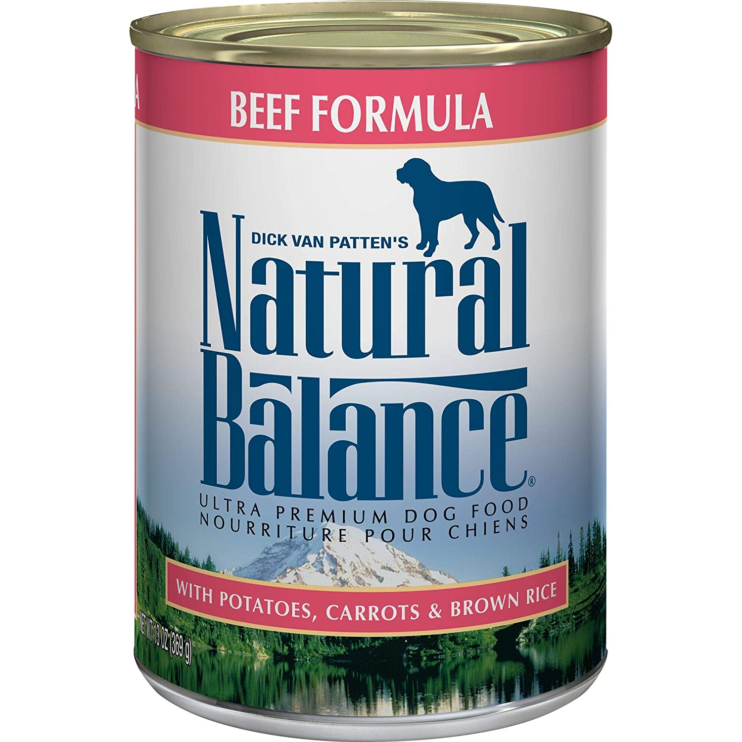 13. Natural Balance Ultra Premium Beef Formula Canned Dog Food