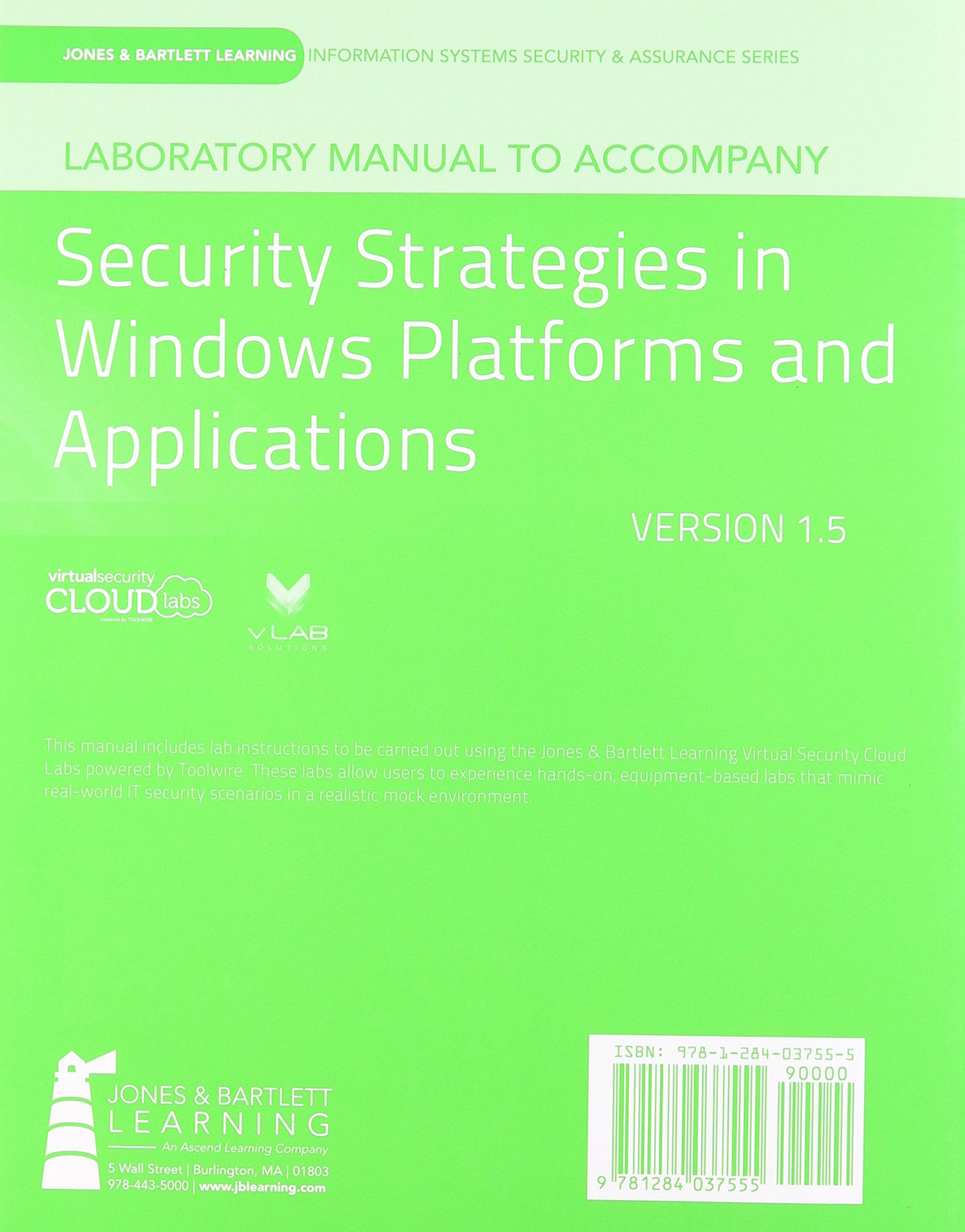 laboratory manual version 1 5 to accompany security strategies in rh amazon com Instruction Manual Physics Laboratory Manual PDF
