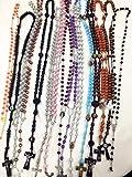 12 件混合款式念珠项链 宗教天主教十字架十字架批发