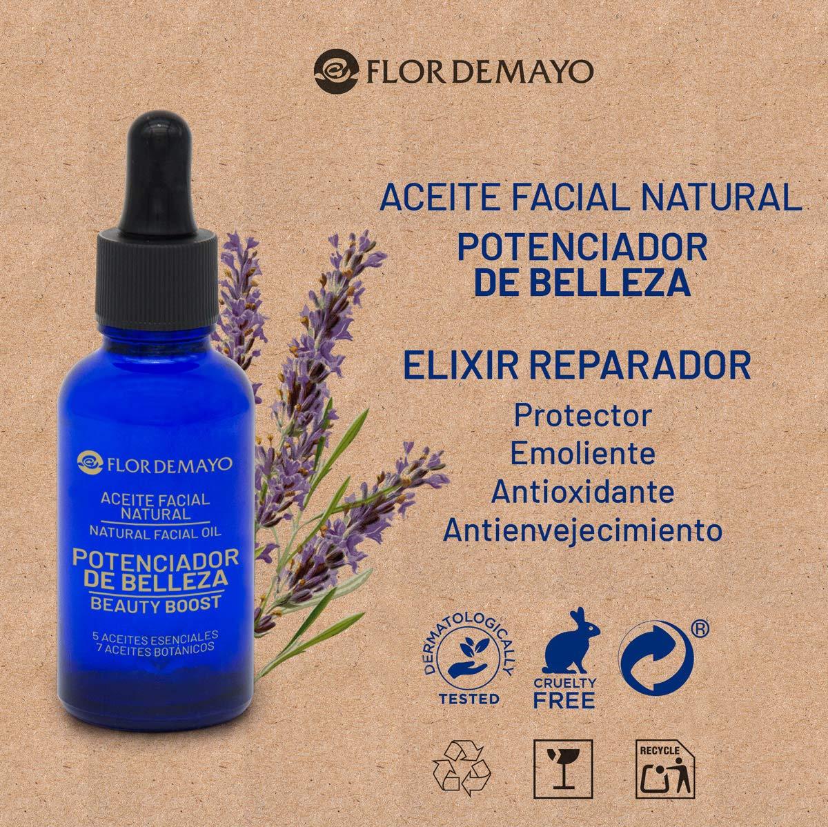 Aceite Potenciador de Belleza. Elixir Hidratante 100% Natural con Aceite de Rosa Mosqueta, Aguacate, Jojoba, Macadamia, Extractos de Cúrcuma, Lavanda, ...