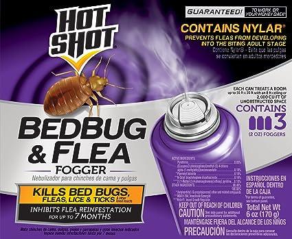 Hot Shot HG-95911 Bedbug & Flea Fogger, Aerosol, 2-3/2-Ounce